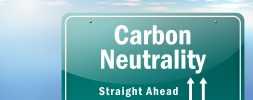 Carbon neutrality sign